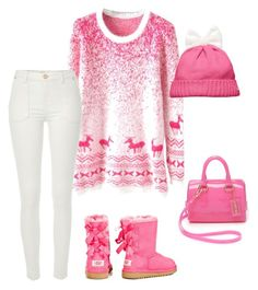 """""""Untitled #16"""" by noora-al-dosseri on Polyvore featuring River Island, UGG Australia, Kate Spade and Furla"""