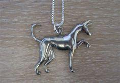 Podenco Necklace - bizan Hound Jewelry - Pharaoh Hound - Anubis Necklace