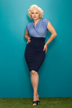 Cowl Me Sometime Pencil Dress in Navy