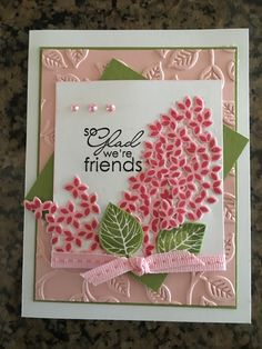Embossing Folder and Confetti Flowers..