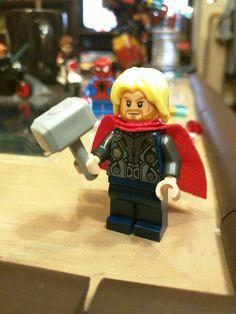 Close up of Thor Lego