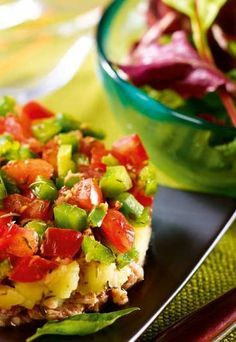Recette minceur Jenny Craig : Thon légumes à la provencale sur son nid de salade…