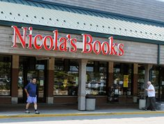 Nicola's Books-I did my first book signing there. Lovely bookstore.
