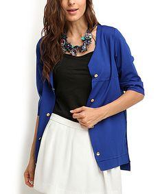 Sax Button-Up Jacket #zulily #zulilyfinds