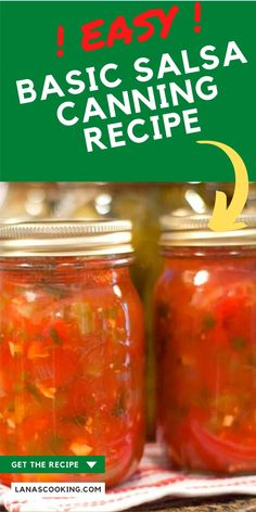 Use this easy home canning recipe for Basic Salsa with fresh tomatoes, onions, and peppers to keep fresh summer flavors in your pantry all year round. Spicy Salsa Recipe For Canning, Basic Salsa Recipe, Tomato Salsa Canning, Canned Salsa Recipes, Fresh Salsa Recipe, Tomato Salsa Recipe, Home Canning Recipes, Fresh Tomato Recipes, Canning Tomatoes