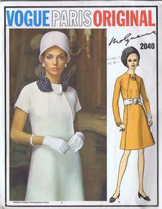 VINTAGE SHEATH DRESS 1960s VOGUE SEWING PATTERN 2040 SIZE 12 BUST 34 HIP 36 CUT | eBay