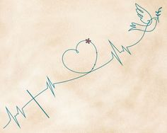 Heartbeat-style Faith Love Hope tattoo design
