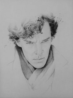"aumael: ""Right time to share this drawing, one of the three winners in the competition portrait that took place last week-end at the official Sherlock convention in the US"" Sherlock Poster, Quotes Sherlock, Sherlock Tumblr, Sherlock Holmes 3, Sherlock John, Funny Sherlock, Johnlock, Sherlock Drawing, Sherlock Season 4"