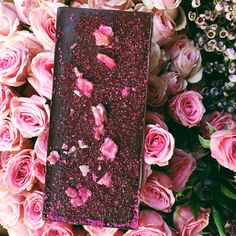 Dark Chocolate ROSE Bar - Chocolate Bar - Compartes Chocolatier Gourmet Chocolate - 1
