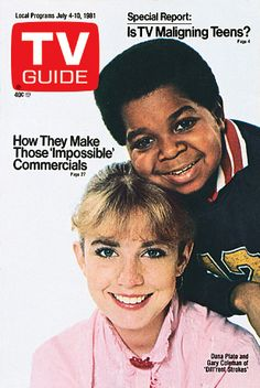 Diff'rent Strokes stars Dana Plato and Gary Coleman share the July 4, 1981 cover