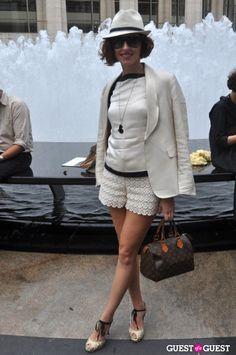New York Fashion Week S/S 2012, #StreetStyle #fashion