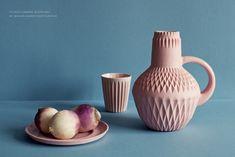 Eye catching pastel ceramics - via Lenneke Wispelwey Pantone 2016, Web Design, Shabby, Shops, Deco Boheme, Create A Family, Blog Deco, Ceramic Pottery, Color Inspiration