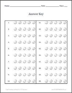 40 question bubble sheet | Bubble Answer Sheet 100 Questions ...