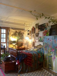 conservatory, art gallery, gypsy boho bedroom..... woa, thought that was a huge canvas painting- it's a STILL LIFE armoire