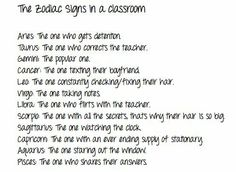 Signs in a classroom