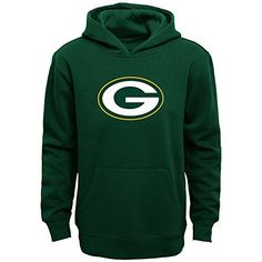NFL Boys 820 Primary Logo Fleece HoodieGreen Bay PackersHunterLarge -- Click image for more details.