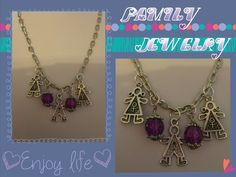 Family Necklace - Charmed Crafters Perfect for mothers, grandmothers, etc... visit Jens Charmed Jewels at http://www.charmedcrafters.com