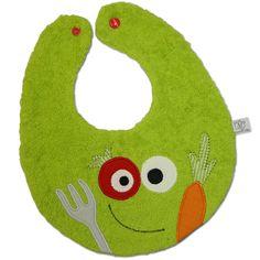 Babylätzchen müssen nicht langweilig aussehen: Diese Anleitung zeigt Ihnen, wie Sie ein originelles Veggiemonster nähen!