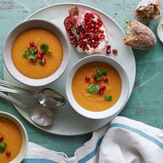 Sweet Potato and Red Lentil Bisque #recipe #soup