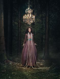 Forest Fairytale is a project of the photographer Ulyana Sergeenko and of the grapher Nickolas Sushkevich.