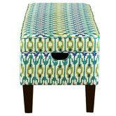 Found it at AllModern - Upholstered Storage Bedroom Bench in Apsara Aegean