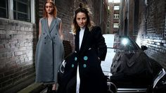 Pictured outside her office in Chippendale is fashion designer Kym Ellery with model Sydn
