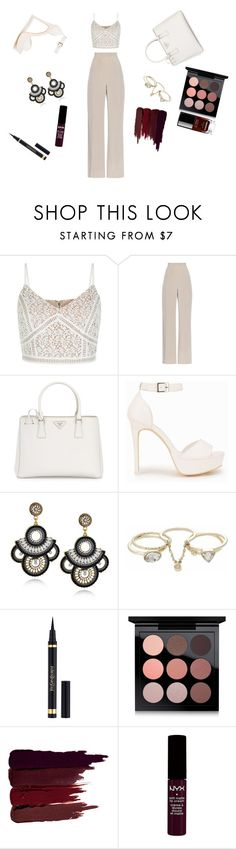 """""""Untitled #619"""" by ofran-moaryd ❤ liked on Polyvore featuring MaxMara, Prada, Nly Shoes, Lipsy, Yves Saint Laurent, MAC Cosmetics, Serge Lutens, NYX and Chanel"""
