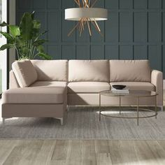 Hephzibah Reversible Sleeper Sectional & Reviews | Birch Lane Sectional Ottoman, Sleeper Sectional, Modern Sectional, Chaise Sofa, Couches, Best Sectionals, Upholstered Furniture, Living Room Furniture, Love Seat