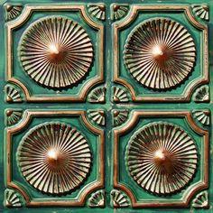 Faux Patina Copper ceiling tile