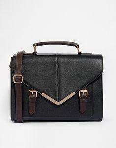 ASOS Large V Bar Satchel Bag