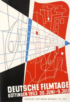 Deutsche Filmtage - Gottingen by Wegner | Shop original vintage #posters online: www.internationalposter.com.