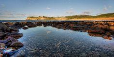 Crystal clear water of the rocky Avalon Beach  #Avalon #AvalonBeach #BeachPhotography #Photography #NewSouthWales #Australia
