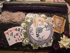 Happy Crafter Shell: Alice in wonderland smeared ink style :D