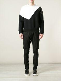 NEIL BARRETT - tri-colour sweatshirt 7
