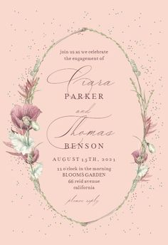 Poppy Flower Wreath - Engagement Party Invitation #invitations #printable #diy #template #Engagement #party #wedding Free Wedding Invitations, Christening Invitations, Engagement Party Invitations, Bridal Shower Invitations, Poppies, Wreaths, Flowers, Response Cards, Cute Illustration