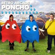 Regen is geen probleem meer voor jou dankzij deze leuke Arcade Poncho's! MegaGadgets.nl