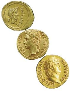 Left to right: Gold coins [aureii] of Caesar, Augustus, and Nero 700 digital coins in the world. None oriented towards actually being used as currency. That all changes now! Save money with retail shopping while investing in the hottest crypto coin ever! Ancient Roman Coins, Ancient Rome, Roman Artifacts, All Currency, Gold And Silver Coins, Gold Bullion, Rare Coins, Coin Collecting, Roman Empire