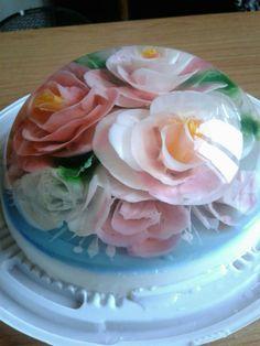 3d Jelly Cake, Cute Desserts, Jello, Cake Art, Superfood, Yummy Treats, Icing, Angel, Sweet