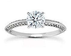 NEW Knife Edge Diamond Engagement Ring in White Gold, 0.25 carat tw. - Design Your Dream Ring - DreamStone