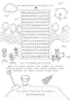 kern 12: vakantie Woordzoeker groep 3/4 Visually Impaired Activities, Educational Crafts, Diy Crafts Hacks, Kids Behavior, Puzzles For Kids, Primary School, Unique Tattoos, Travel With Kids, Spelling