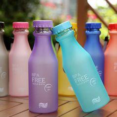 9 tipos de cor diferente Da Garrafa de Água 550 ML Doce Cor Portátil Esporte Leak prova de Plástico Xícara de Suco de Limão em Garrafas de água de Home & Garden no AliExpress.com | Alibaba Group