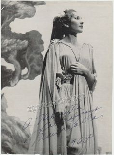 Callas, Maria - Large signed photo as Norma!