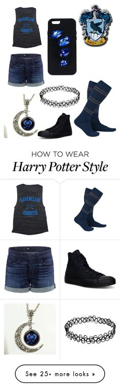 """""""Summer time Ravenclaw"""" by xvale-lovex on Polyvore featuring 3x1, Converse and STELLA McCARTNEY"""