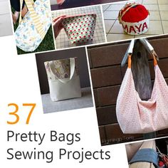 It's no surprise that most people choose bag projects for their intro to sewing as it is fun to make aside from being useful. We at Sew My Place, like our DIY bag projects so here's a short list of 37 Pretty. Diy Crafts Step By Step, Diy Crafts For Kids Easy, Diy Crafts For Teen Girls, Diy And Crafts Sewing, Easy Sewing Projects, Sewing Hacks, Sewing Tips, Sewing Machines Best, Easy Sewing Patterns