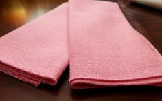 Napkins Napkins Set 2 Linen Napkins Blush by SuzyQsVintageShop, $5.00