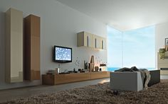 Living Room:Modern TV Wall Units 06 In Beige And Brown Colors Decorating  Brazilian Living Room And Lighting With Sofa Furniture Coffe Table Chairs  Rug ...