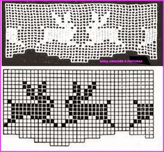 Crochet Boarders, Crochet Patterns, Filet Crochet, Knit Crochet, Charts And Graphs, Making 10, Chrochet, Crochet Animals, Cross Stitch Embroidery