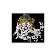 Black, White Fox Lace Mask for Wedding, Masquerade, Venetian Carnival,... ($3.99) ❤ liked on Polyvore featuring costumes, masquerade halloween costumes, carnival costumes, masquerade costume, white costume and lace costume