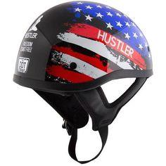 ANCIENT SKULLS Matte Black DOT Approved Shorty Half Motorcycle Helmet Skull S-2X
