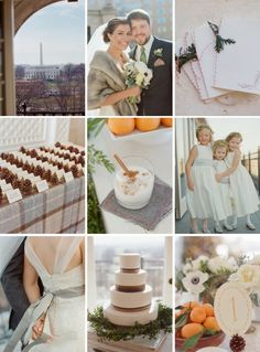 Planning a festive winter wedding? Try flannel, pinecone, and jingle bell touches like this couple